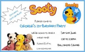 sooty invitation