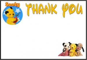 sooty thank you plain