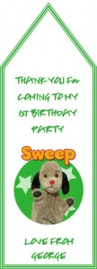 sweep gift tag