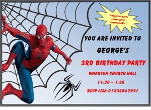 spider-man invitation